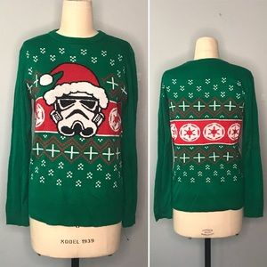 Star Wars Storm Trooper Christmas Sweater, EUC